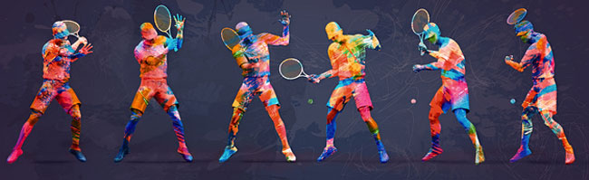 arty tennis players