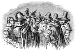 guy fawkes and co-conspirators planning